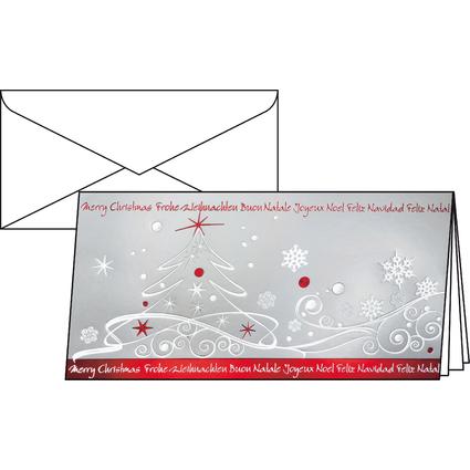 """sigel Weihnachtskarte """"Winter Breeze"""", DIN lang (2/3 A4)"""