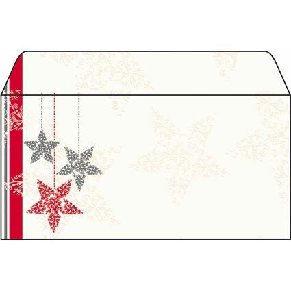 """sigel Weihnachts-Umschlag """"Starlets"""", DIN lang, 90 g/qm"""
