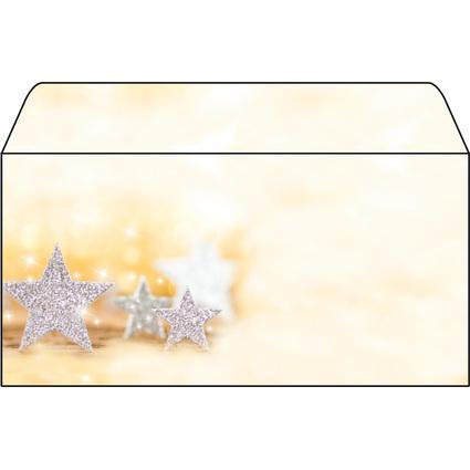 "sigel Weihnachts-Umschlag ""Glitter Stars"", DIN lang"