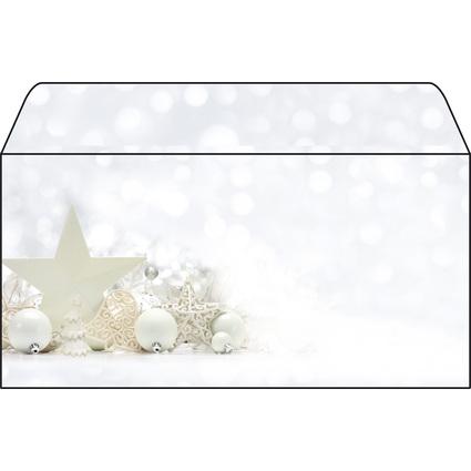 "sigel Weihnachts-Umschlag ""White Stars"", DIN lang, 90 g/qm"