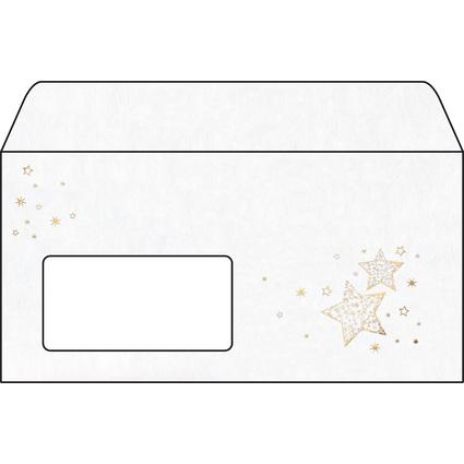 "sigel Weihnachts-Umschlag ""Golden Glow"", DIN lang, 90 g/qm"