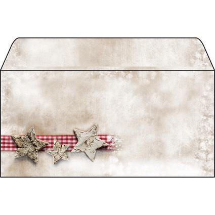 "sigel Weihnachts-Umschlag ""Winter Chalet"", DIN lang, 90 g/qm"