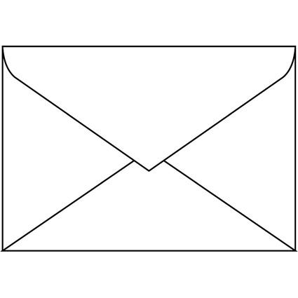 sigel Umschlag, C6, ohne Fenster, 100 g/qm, gummiert, weiß