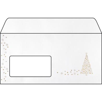 """sigel Weihnachts-Umschlag """"Golden Tree"""", DIN lang"""
