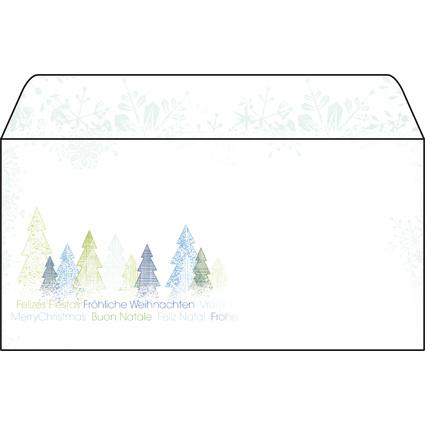 "sigel Weihnachts-Umschlag ""Trees"", DIN lang, 90 g/qm"