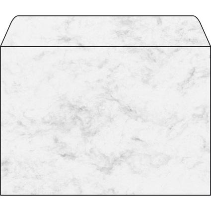 sigel Umschlag, C5, 90 g/qm, gummiert, Marmor grau