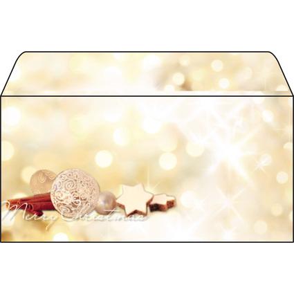 """sigel Weihnachts-Umschlag """"Zimtsterne"""", DIN lang, 90 g/qm"""