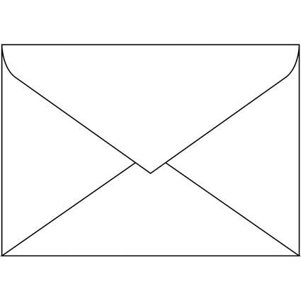 sigel Umschlag, C5, 100 g/qm, gummiert, weiß