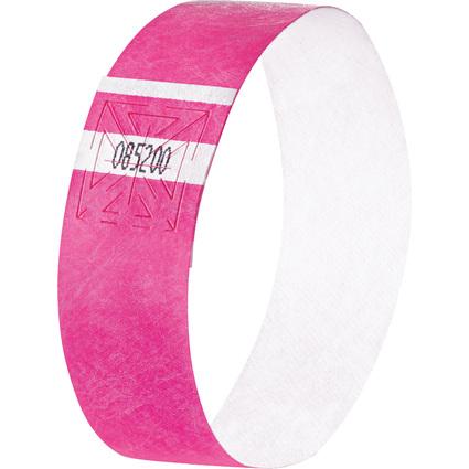 """sigel Eventbänder """"Super Soft"""", reißfest, neon pink"""
