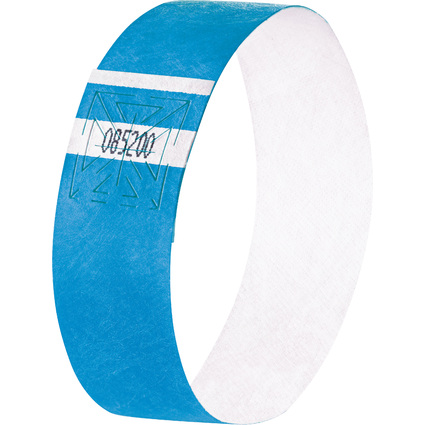"""sigel Eventbänder """"Super Soft"""", reißfest, neon blau"""