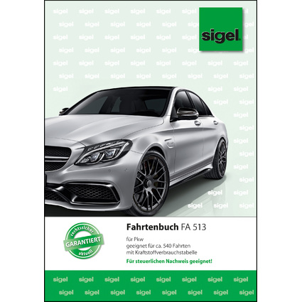 """sigel Formularbuch """"Fahrtenbuch Pkw"""", A5, 32 Blatt"""