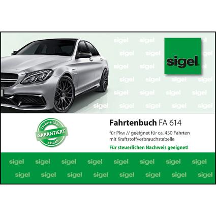 "sigel Formularbuch ""Fahrtenbuch Pkw"", A6 quer, 44 Blatt"
