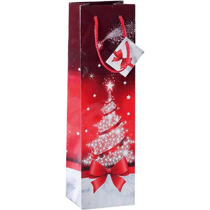 """sigel Weihnachts-Flaschentüte """"Sparkling Tree"""""""