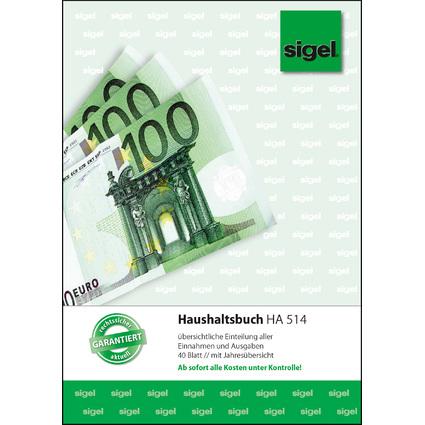 "sigel Formularbuch ""Haushaltsbuch"", A5, 40 Blatt"