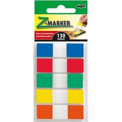 """sigel Haftstreifen """"Z-Marker"""" Film Color-Tip Mini, sortiert"""