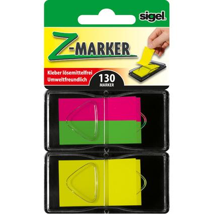 "sigel Haftstreifen ""Z-Marker"" Film Mix Neon, sortiert"