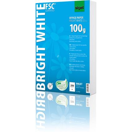 "sigel Inkjet-Papier ""Bright White"", DIN A4, 100 g/qm"