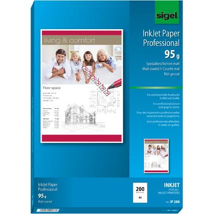sigel Inkjet-Papier, DIN A4, 95 g/qm, hochweiß, matt
