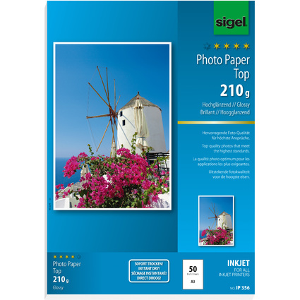 sigel InkJet-Top-Foto-Papier, DIN A3, hochglänzend, 210 g/qm