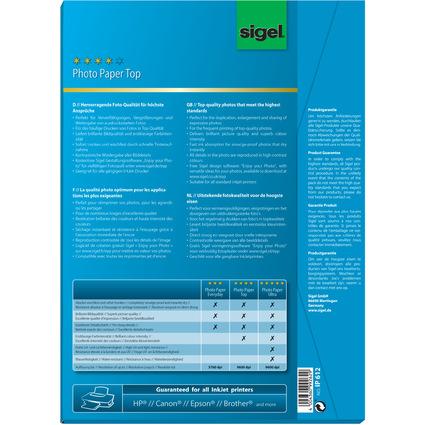 sigel InkJet-Top-Foto-Papier, DIN A4, hochglänzend, 210 g/qm