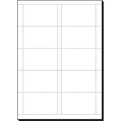 sigel Visitenkarten, 85 x 55 mm, 200 g/qm, hochweiß