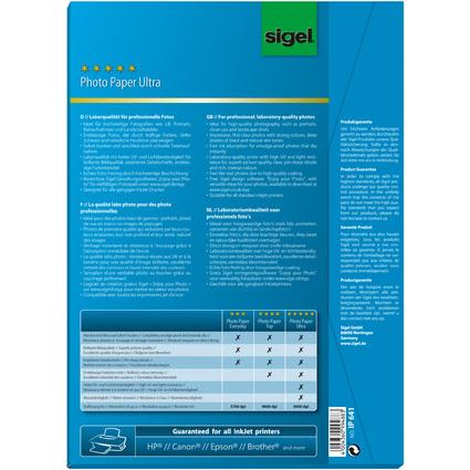sigel Ultra-Foto-Papier, DIN A4, hochglänzend, 260 g/qm