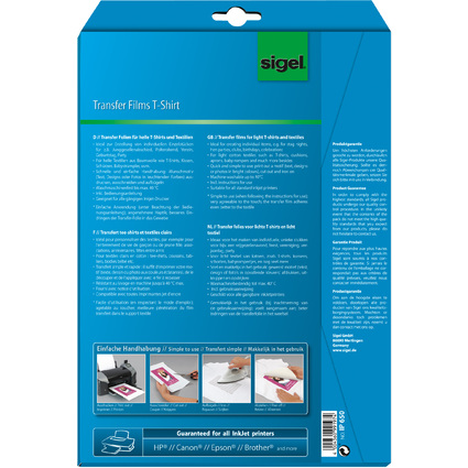 "sigel T-Shirt Inkjet-Transfer-Folien ""HOT DEAL"" Aktion"