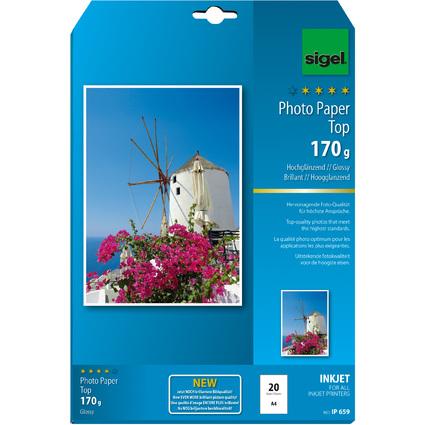 sigel InkJet-Top-Foto-Papier, DIN A4, hochglänzend, 170 g/qm