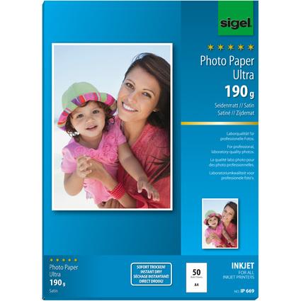 sigel Ultra-Foto-Papier, DIN A4, seidenmatt, 190 g/qm