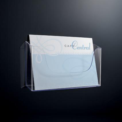 sigel wand prospekthalter acrylic acryl din a4 quer lh118 bei g nstig kaufen. Black Bedroom Furniture Sets. Home Design Ideas