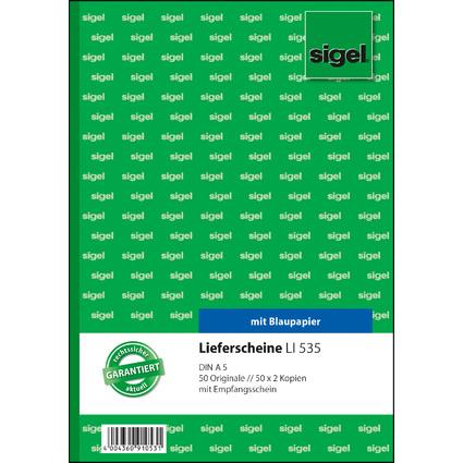 """sigel Formularbuch """"Lieferschein mit Empfangsschein"""", A5"""