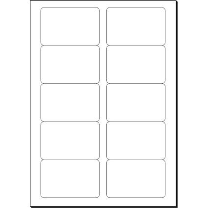 sigel Visitenkarten 3C, 85 x 55 mm, 225 g/qm, hochweiß