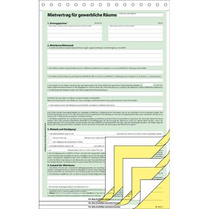 """sigel Vordruck """"Mietvertrag"""", für gewerbliche Räume, A4, SD"""