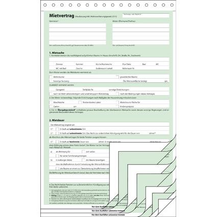 """sigel Vordruck """"Mietvertrag"""", SD, A4, 4 x 2 Blatt"""