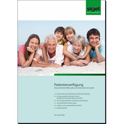 "sigel Vordruck-Set ""Patientenverfügung"", DIN A4"