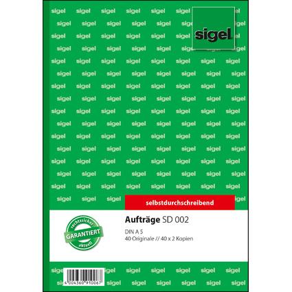 """sigel Formularbuch """"Auftrag"""", A5, 3 x 40 Blatt, SD"""