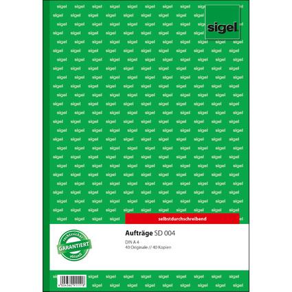 """sigel Formularbuch """"Auftrag"""", A4, 2 x 40 Blatt, SD"""