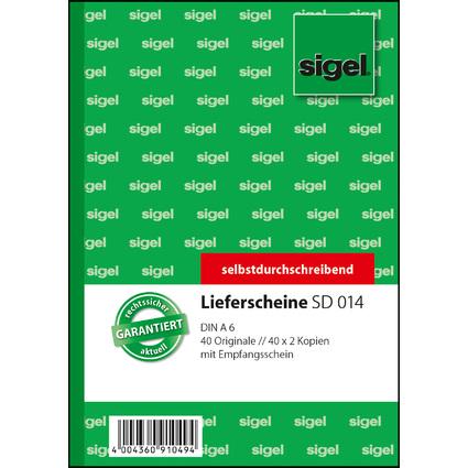 """sigel Formularbuch """"Lieferschein mit Empfangsschein"""", A6, SD"""