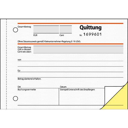 """sigel Formularbuch """"Quittung"""" für Kleinunternehmer"""