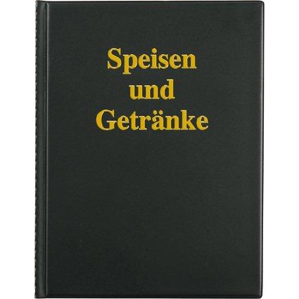sigel Speisekarten-Mappe, A4, schwarz, mit Goldprägung
