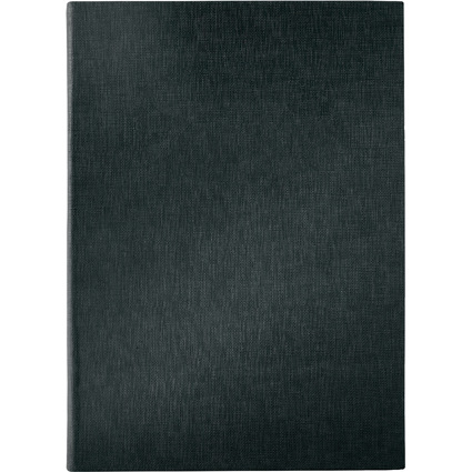 sigel Speisekarten-Mappe, A5, schwarz, Gummi-Bindung, blanko