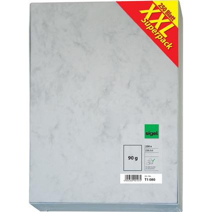"""sigel Marmor-Papier """"XXL Superpack"""", A4, 90 g/qm, Feinpapier"""