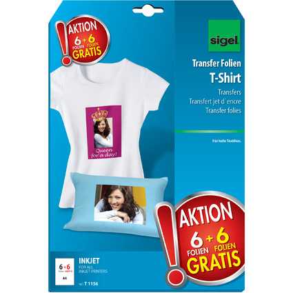 "sigel T-Shirt Inkjet-Transfer-Folien ""HOT DEAL"" Aktion,197my"