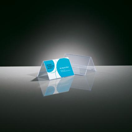 sigel Tischaufsteller, Hartplastik, 100 x 60 mm, Dachform