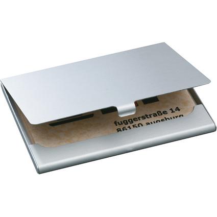 "sigel Visitenkarten-Etui ""Alu"", Aluminium, silber, matt"