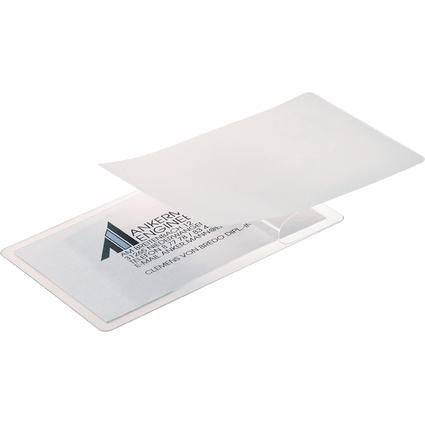 sigel Kalt-Laminierfolie für Karten bis 85 x 55 mm, glasklar
