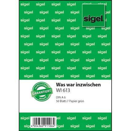 """sigel Formularbuch """"Was war inzwischen"""", A6, 50 Blatt"""