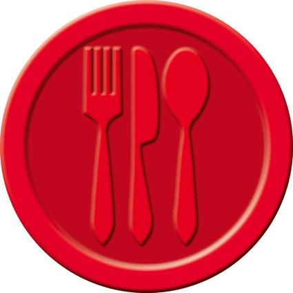 """sigel Wertmarken """"Essen"""", aus Kunststoff, rot"""