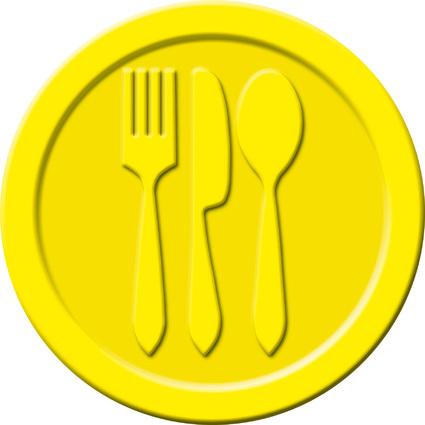 """sigel Wertmarken """"Essen"""", aus Kunststoff, gelb"""