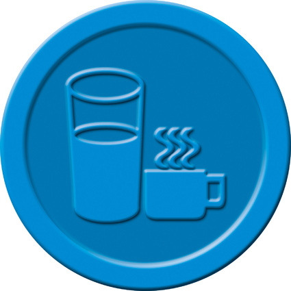 """sigel Wertmarken """"Getränke"""", aus Kunststoff, blau"""